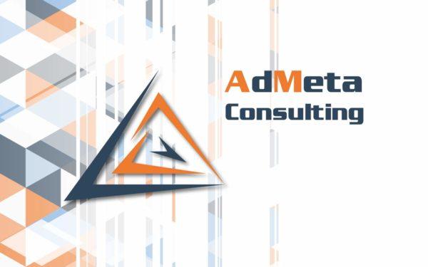 grafica coordinata e logo AdMeta Consulting
