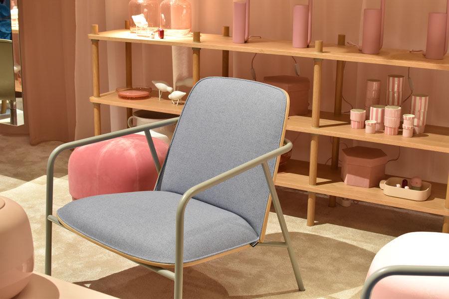 sedia grigia di design