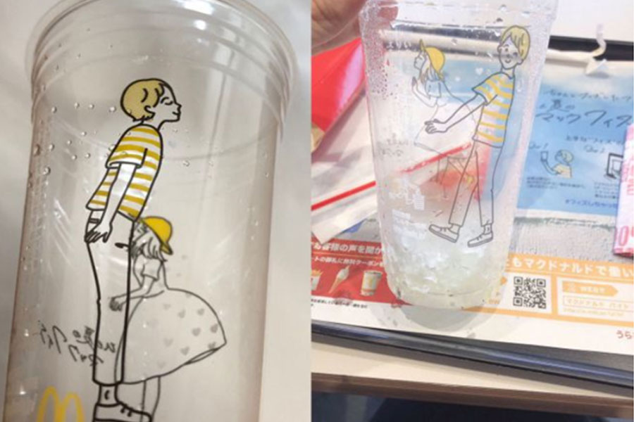 Bicchieri McDonald's McFizz fallimento grafico