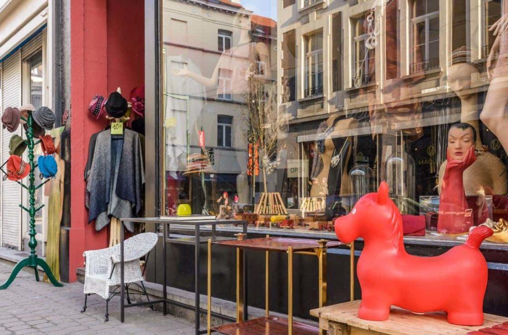 Vetrina di design a Bruxelles
